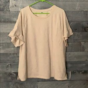 Adorable Flutter Sleeve Short Sleeve Swearshirt